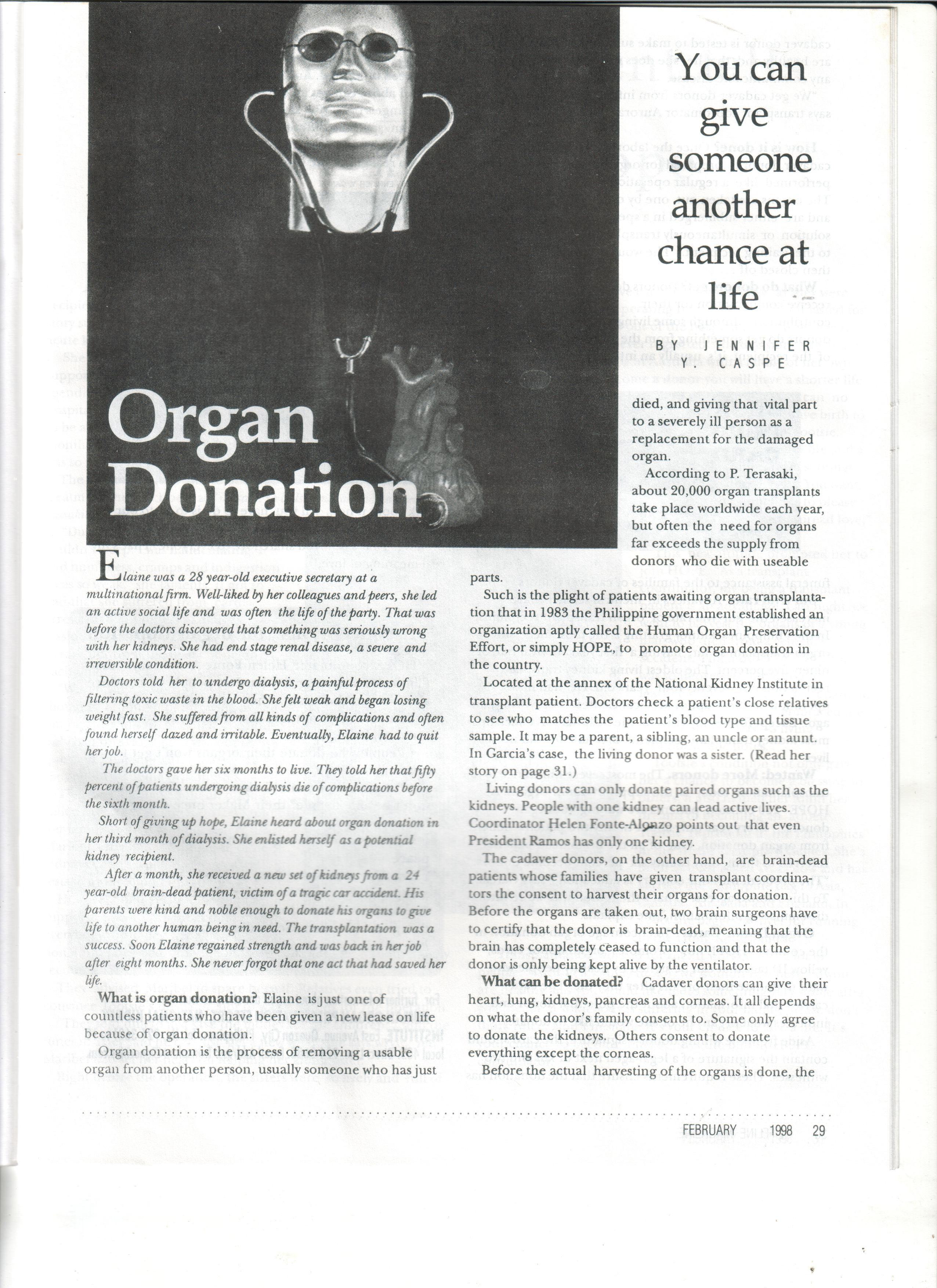 02-98 Organ Donation 1