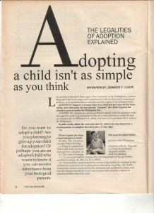09-98 The Legalities of Adoption 1