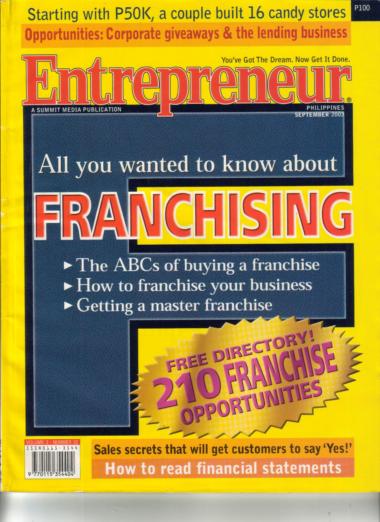 9-03 Financing Your Dream Franchise (Cover)