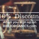 Bibliorganics' 10% Store-Wide Discount
