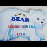 16-month-old Zach  Reads About Bears