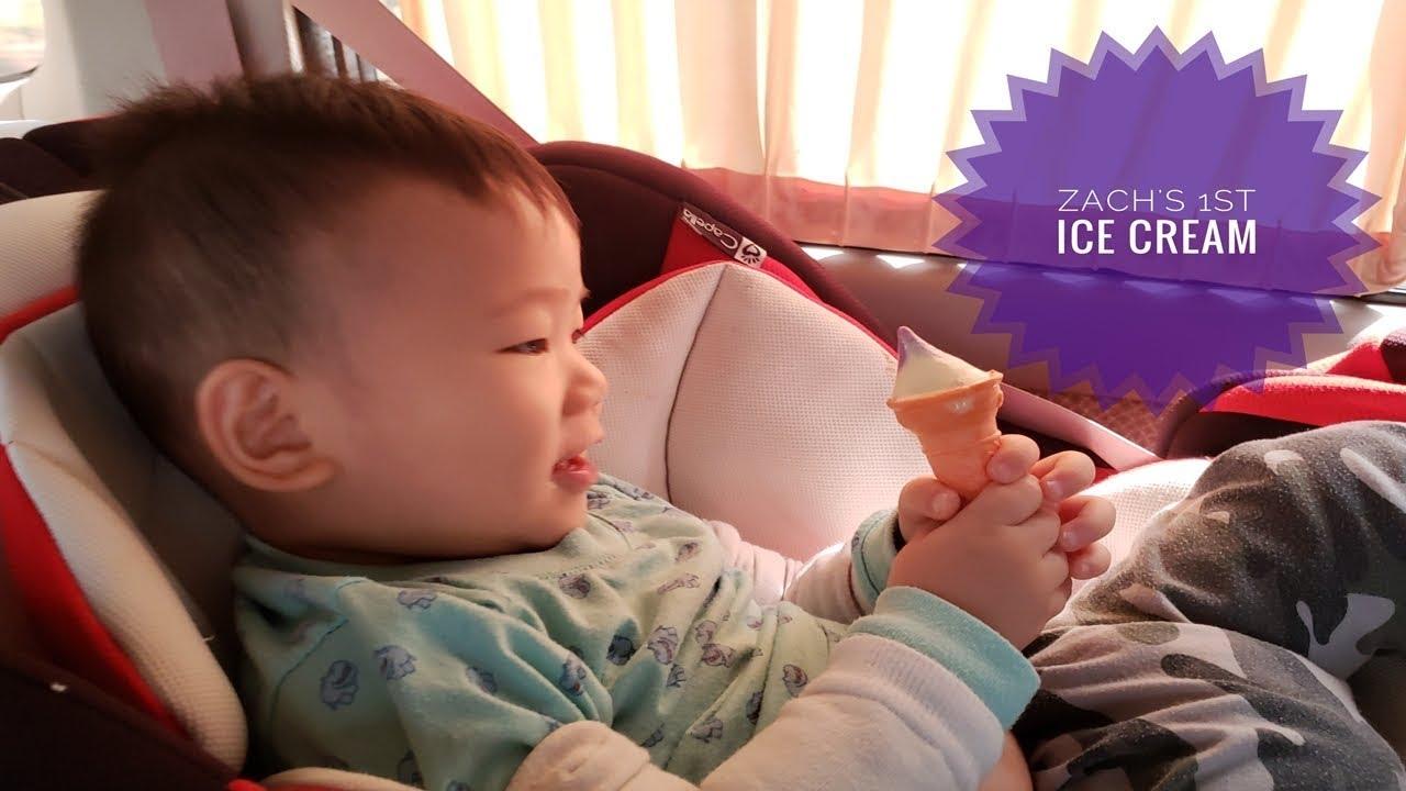 20-month-old Zach's 1st Ice Cream!