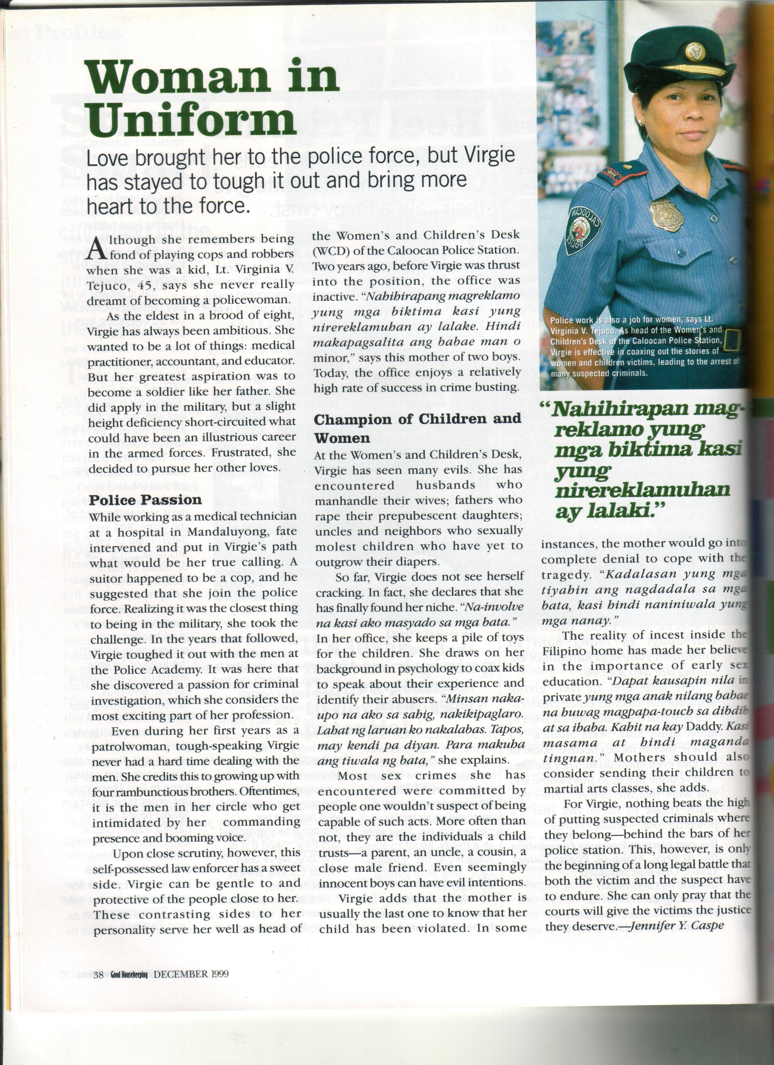 Good Housekeeping Magazine: Woman in Uniform